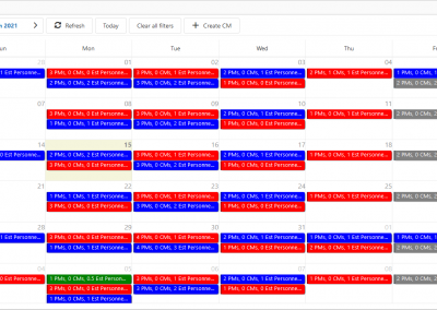 FaciliWorks Essentials Calendar