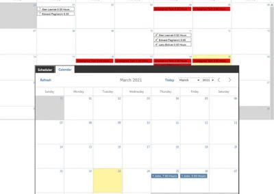FaciliWorks CMMS Software Scheduler and Calendar